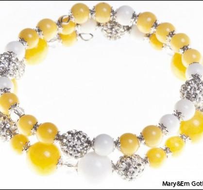 Yellow Dandelion Bracelet