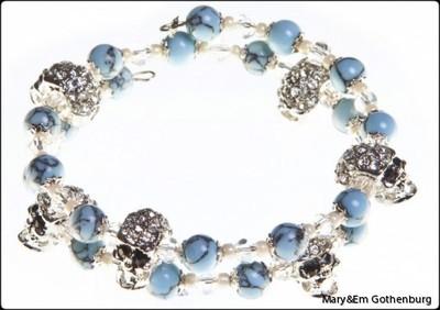 Alice Blue Marble Skulls