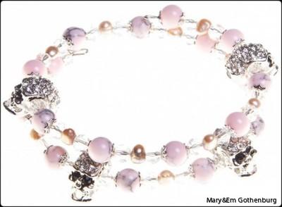 Alice Pink Marble Skulls